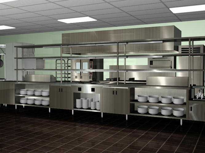 Commercial kitchen architectural plan kitchen design ideas for Industrial style kitchen designs